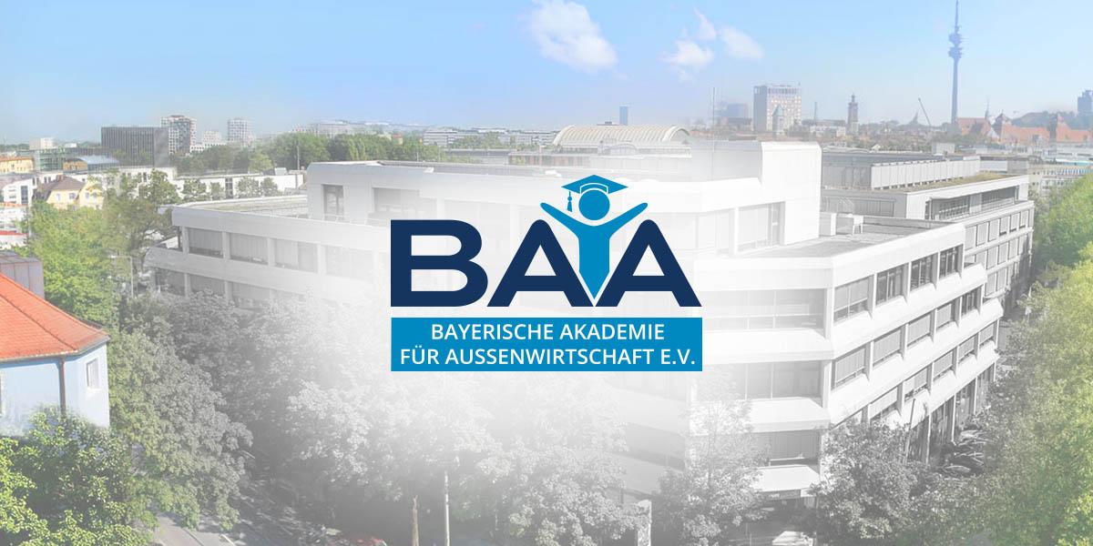 logo design muenchen corporated design brand baa bayerische akademie aussenwirtschaft