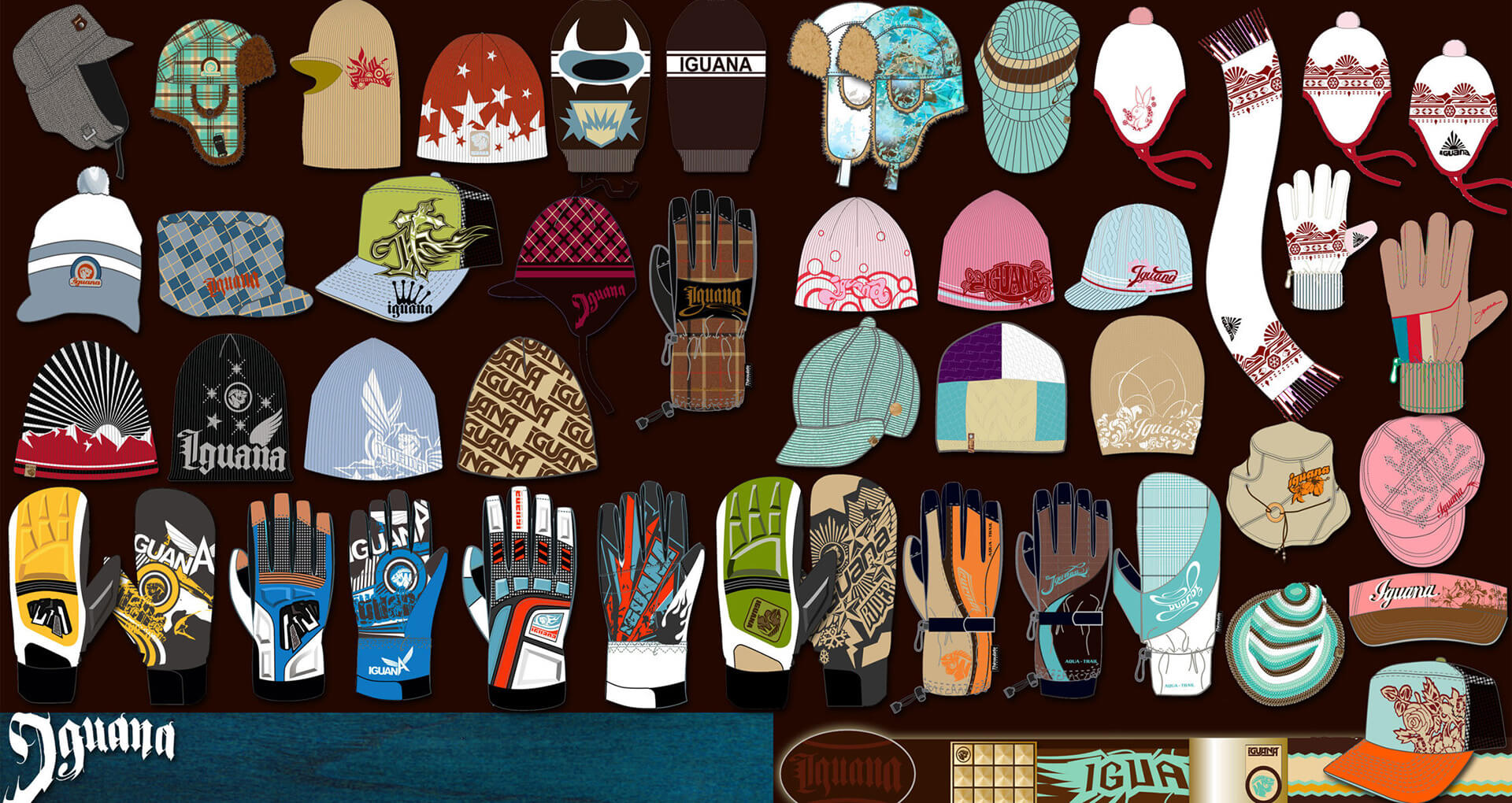 product design snowboards surfbaords hats gloves bags shoes sandals 7