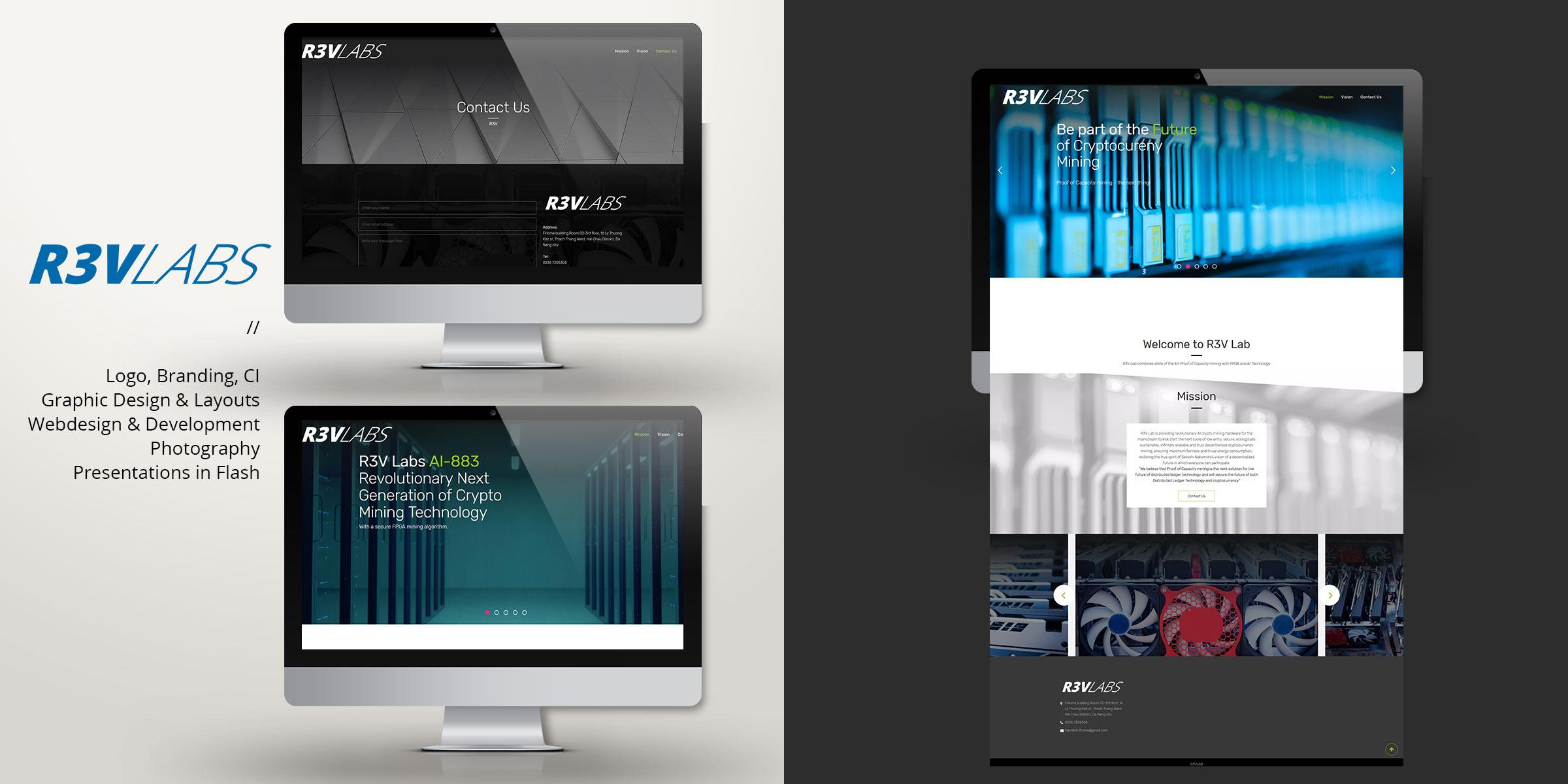 gf designworks r3v website branding logo design