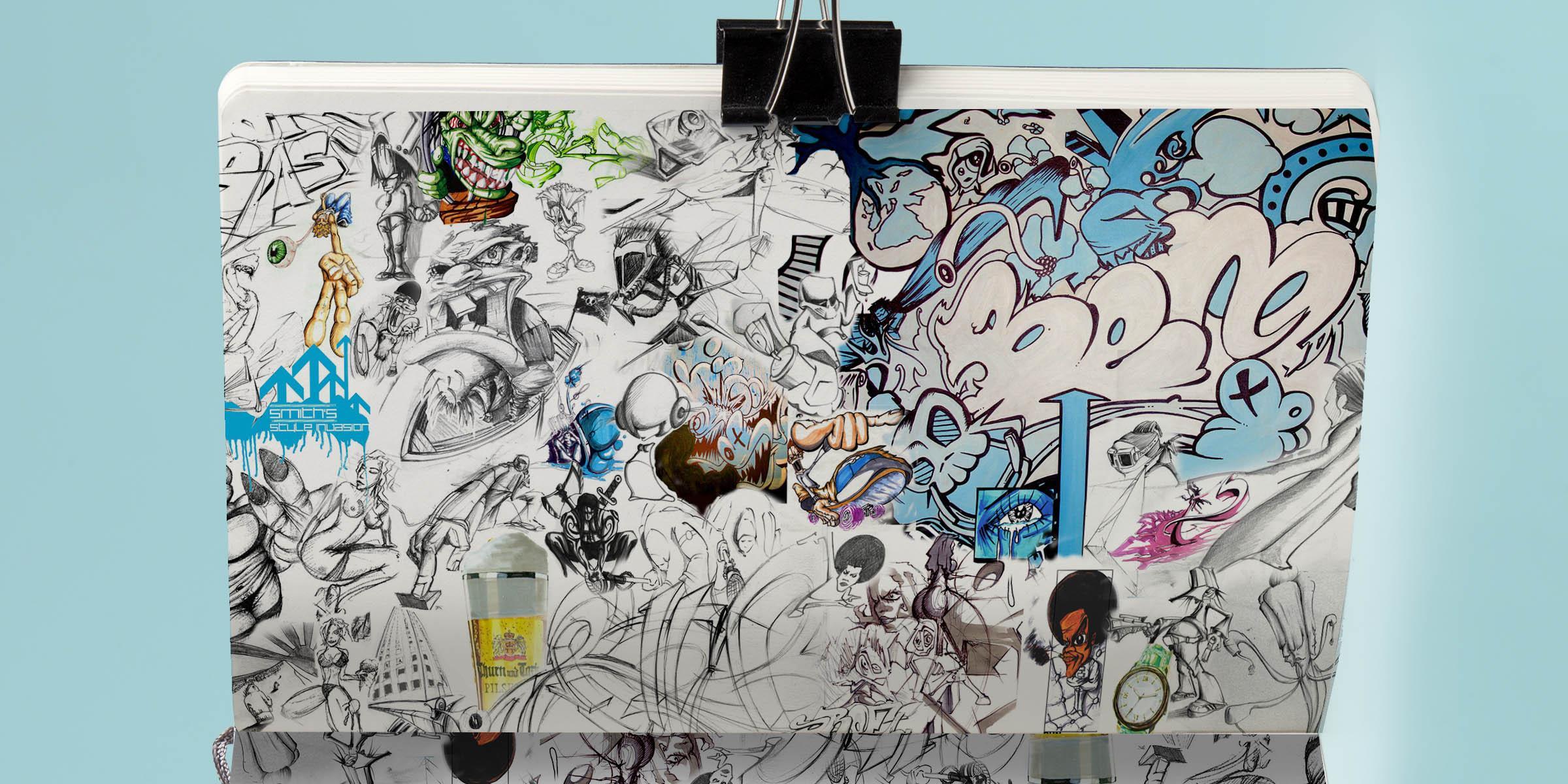 3 art artist street art illustrator gregor fenger art street acryl jakarta fair scribble graffiti
