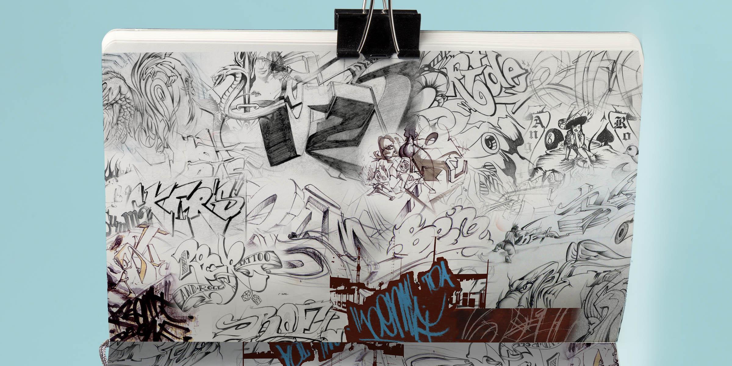 4gregor fenger art street acryl jakarta fair scribble graffiti