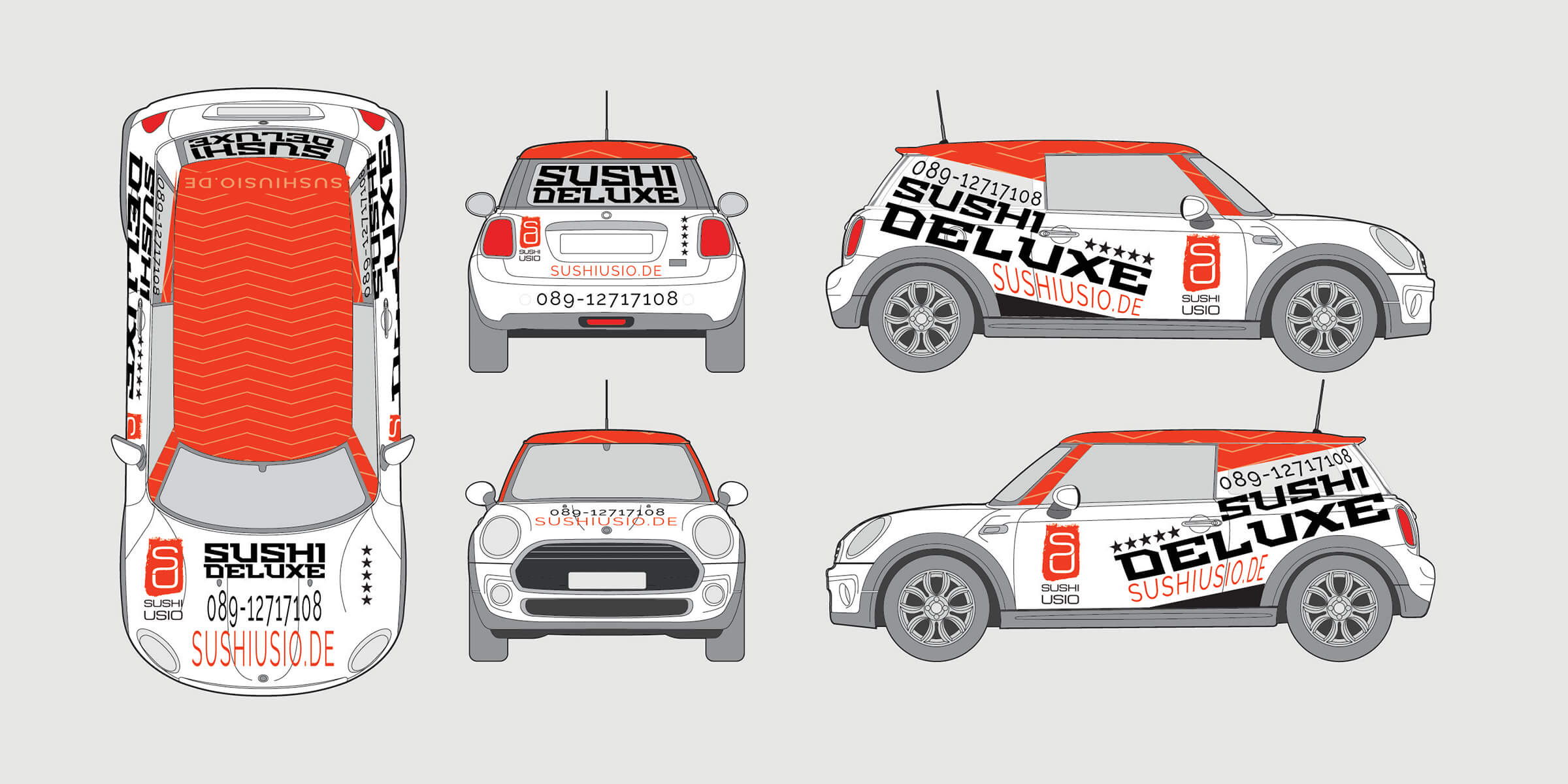 usio sushi car branding corporate design